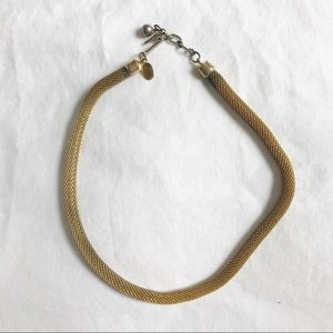 Vintage Givenchy 1976 Gold Choker Necklace